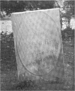 Tombstone to Selah Hart, no longer extant.